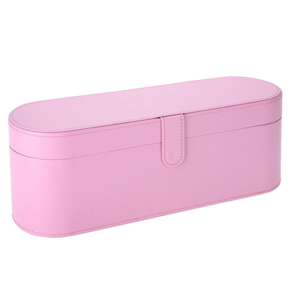 Rangement Pour Seche Cheveux boîte de rangement pour sèche-cheveux en cuir pour dyson supersonic rose