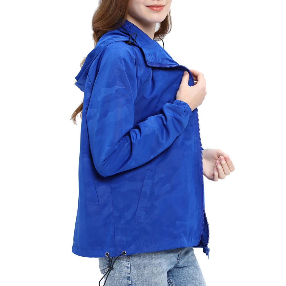 Women-Waterproof-Outdoor-Hiking-Trekking-Jacket-Hooded-Windbreaker-Top-Pockets thumbnail 16