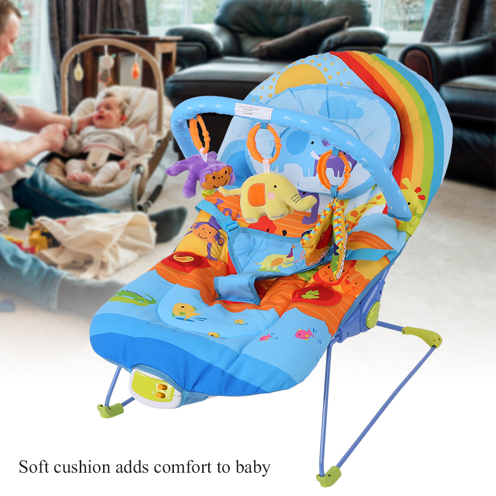 Baby-Swing-Infant-Cradle-Electric-Rocker-Bouncer-Vibration-Chair-Toy-Music-Seat thumbnail 13