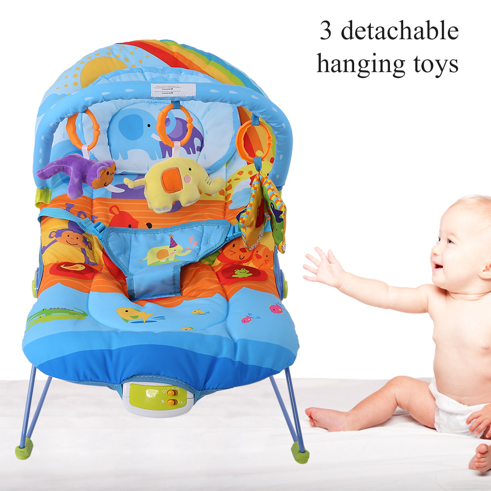Baby-Swing-Infant-Cradle-Electric-Rocker-Bouncer-Vibration-Chair-Toy-Music-Seat thumbnail 14
