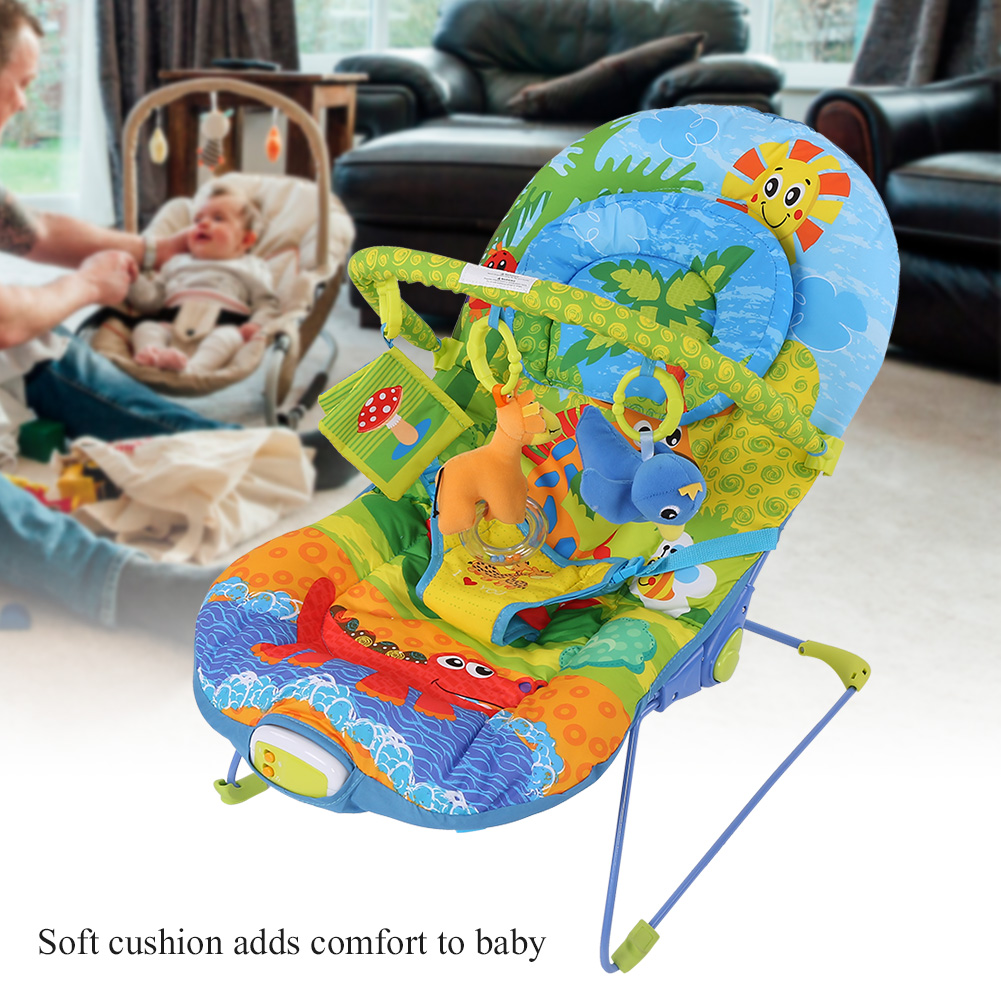 Baby-Swing-Infant-Cradle-Electric-Rocker-Bouncer-Vibration-Chair-Toy-Music-Seat thumbnail 16
