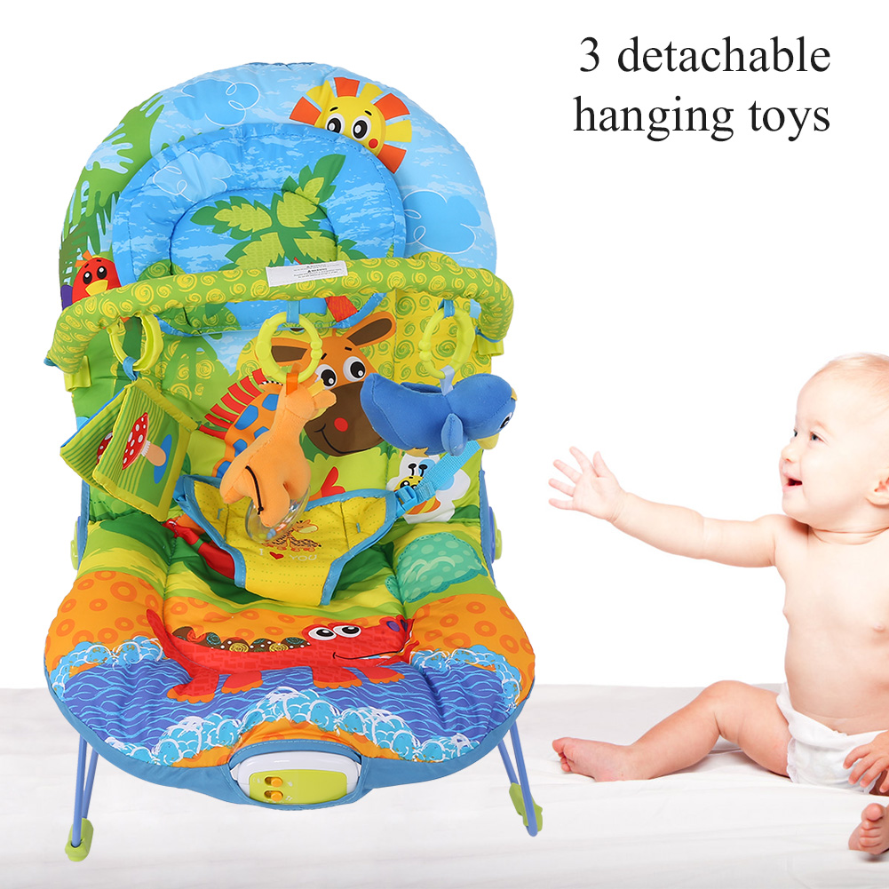 Baby-Swing-Infant-Cradle-Electric-Rocker-Bouncer-Vibration-Chair-Toy-Music-Seat thumbnail 17