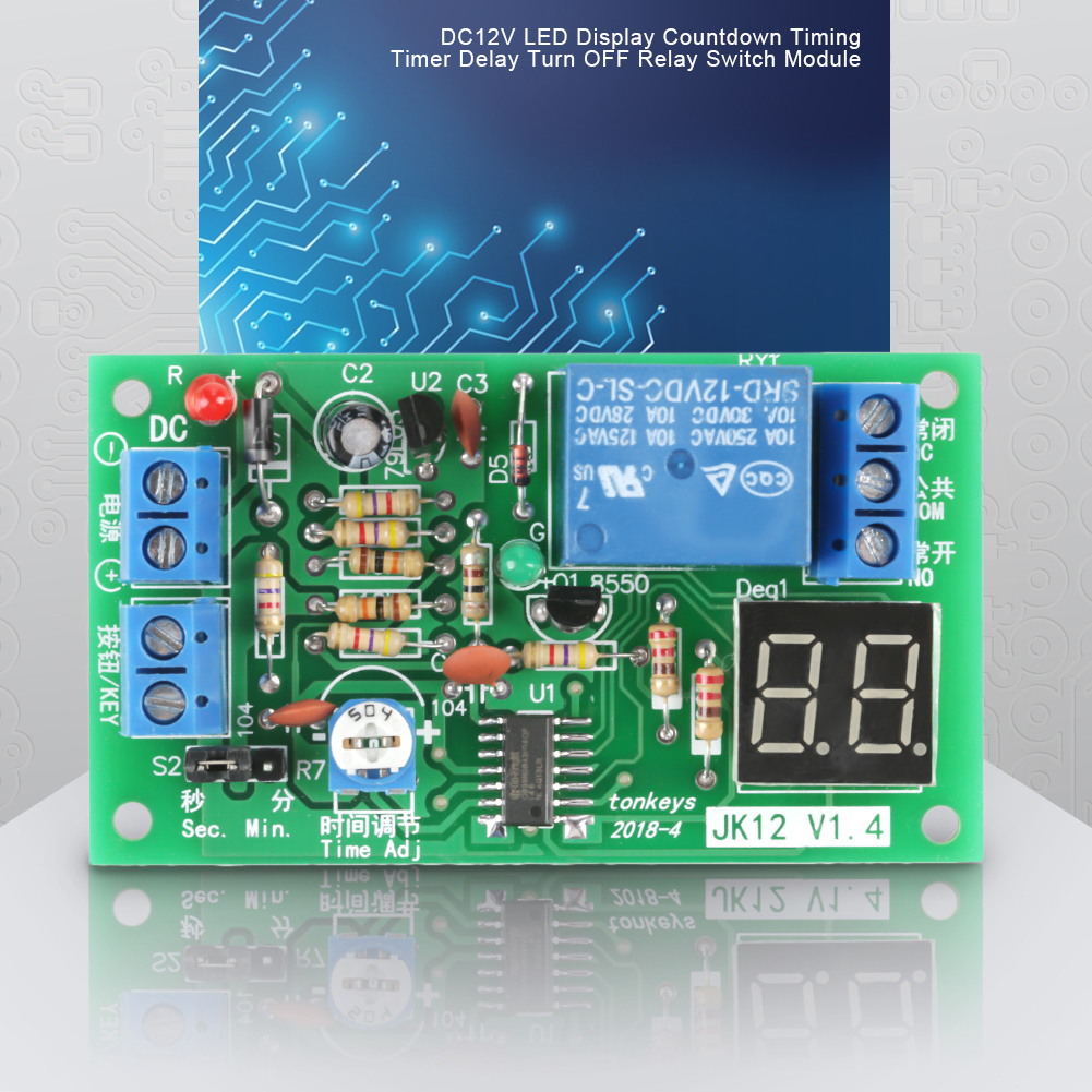 Dc 12v Countdown Timer Led Delay Relay Board Turn On Off Switch Circuit