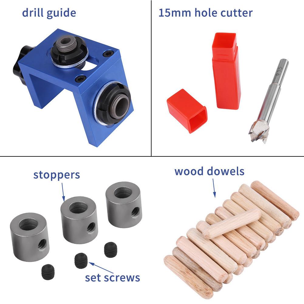 Bohrschablone-Duebelloecher-Lochsucher-Zimmerei-Locator-Tool-fuer-Holzbearbeitung