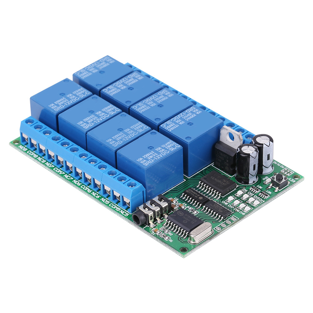 Modulo-8-canali-DTMF-rele-relay-Phone-Voice-Decoder-Remote-Controller-Switch