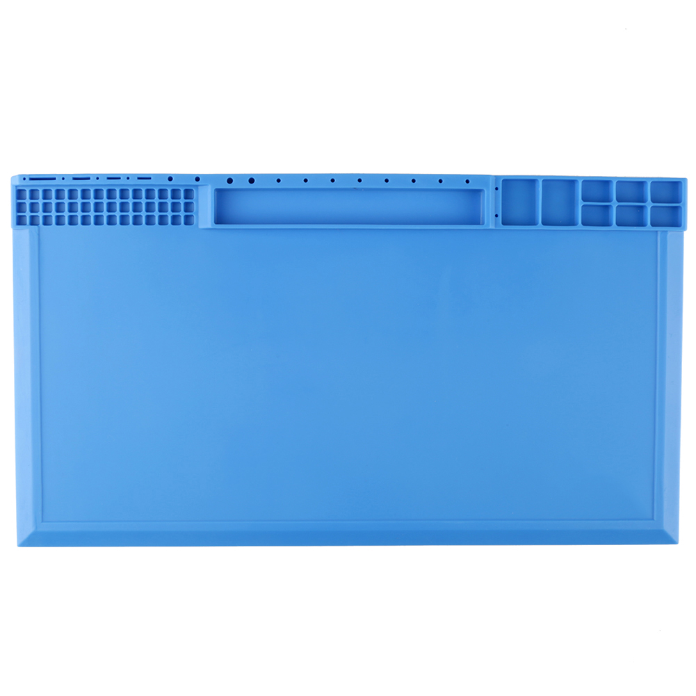 Soldering-Maintenance-Platform-Heat-Insulation-Silicone-Pad-Desk-Mat-Blue-Gray