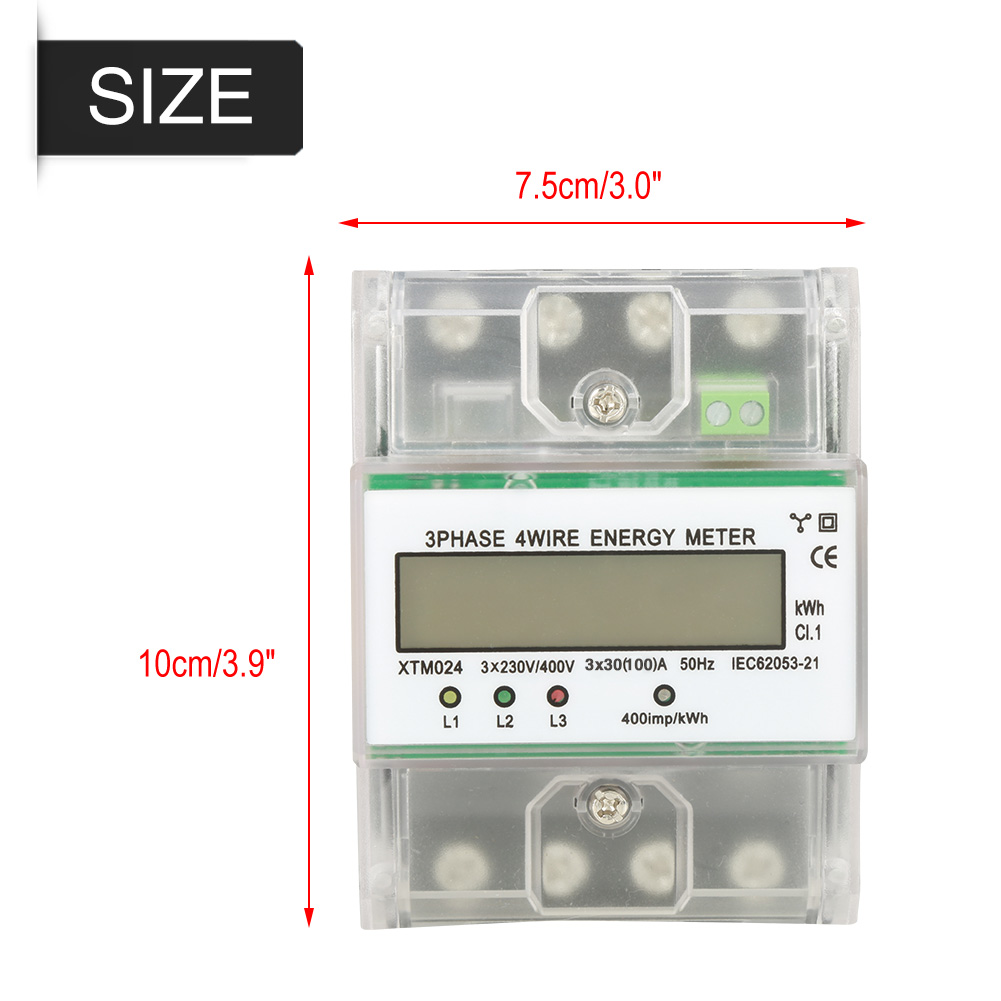 Digital 3 Phase 4 Wire Din Rail Electric Meter Electronic Kwh How To 3phase Electrical Technology