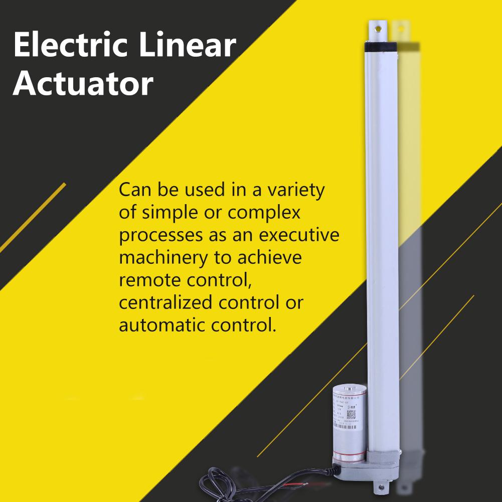 12V Metal Linearantrieb Linearaktuator 1500N Elektro Motor Halterung Hub 750mm
