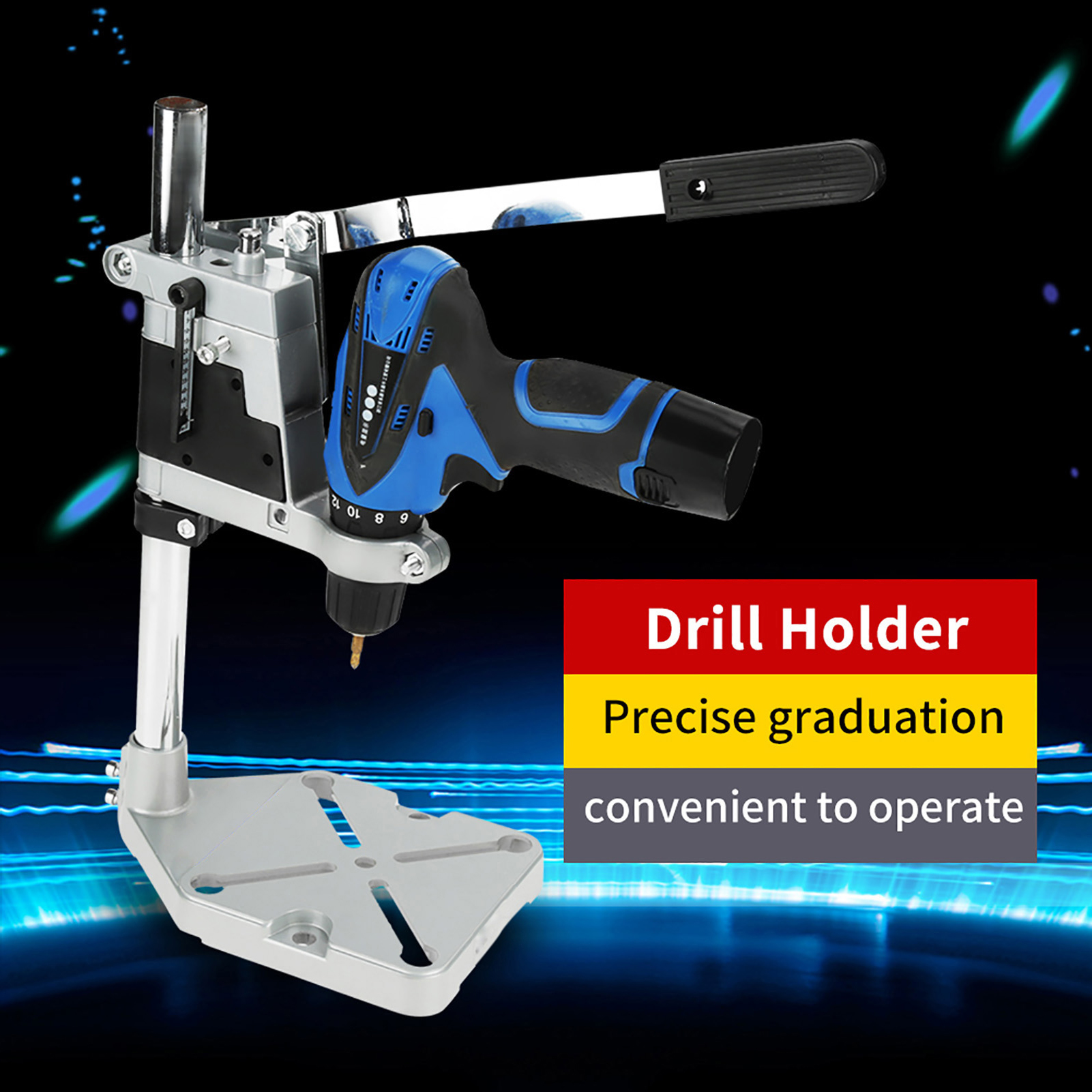 Bench Drill Press Stand Clamp Base Frame for Electric Press Drill Holder B3Z6