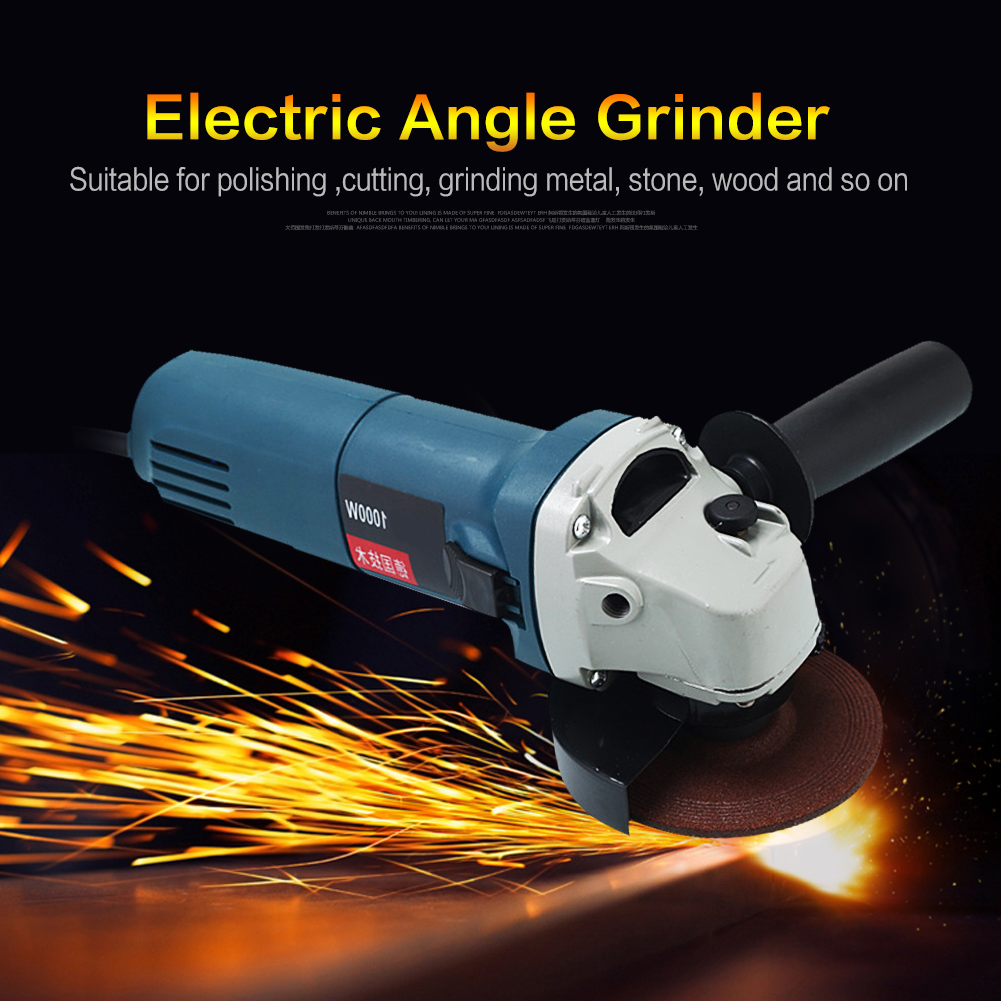 220V 1020W 50HZ Metal Wood Handheld Electric Angle Grinder Machine Green ark