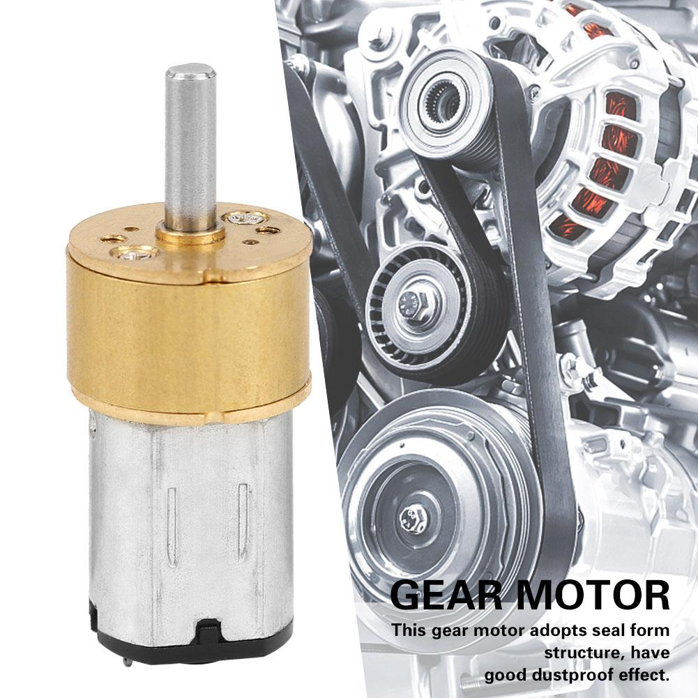 N20 DC 6V Micro Metal Gear Motor Dustproof Reduction Motor For Robot DIY 600 RPM