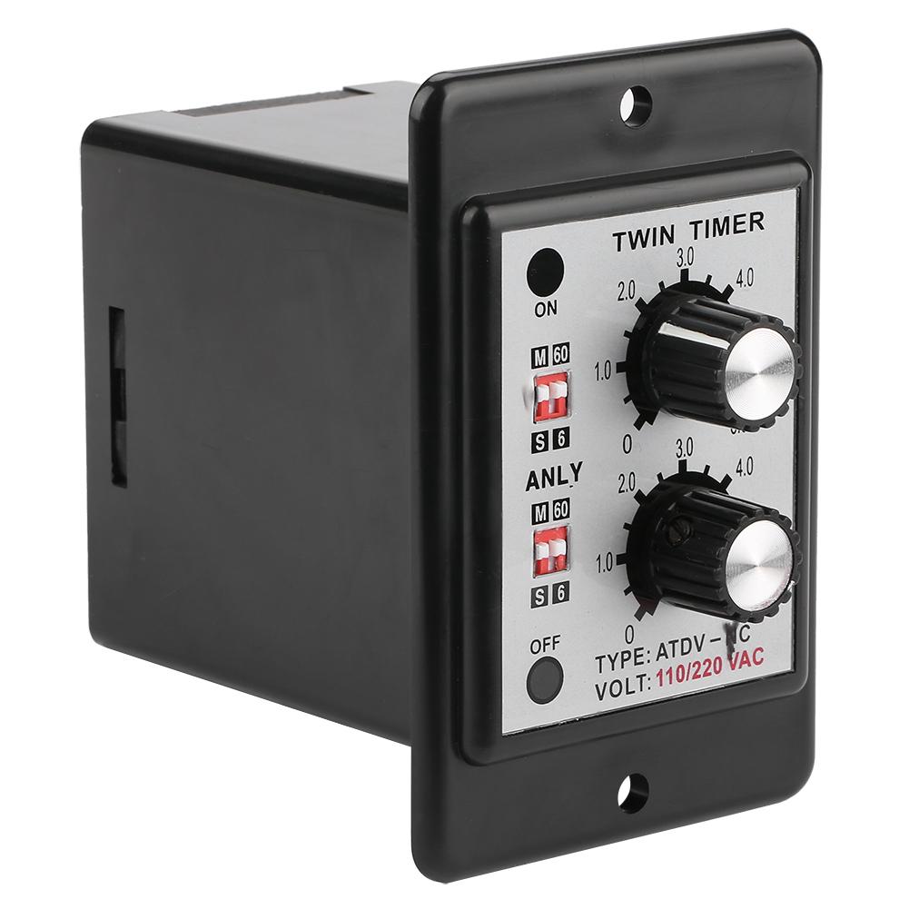 On-Off-Twin-Timer-Relay-Knob-Control-Time-Switch-AC-110-220V-DC-12V-DC-14V thumbnail 15