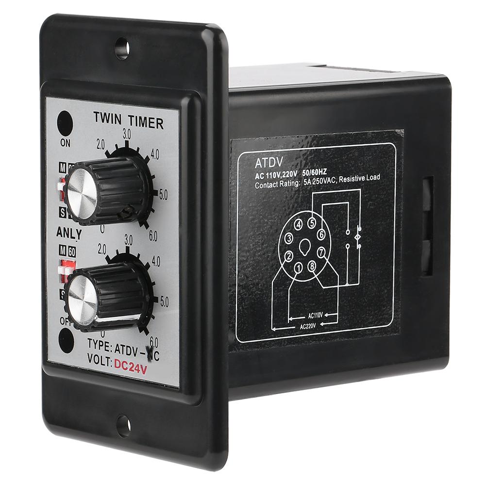 On-Off-Twin-Timer-Relay-Knob-Control-Time-Switch-AC-110-220V-DC-12V-DC-14V thumbnail 20