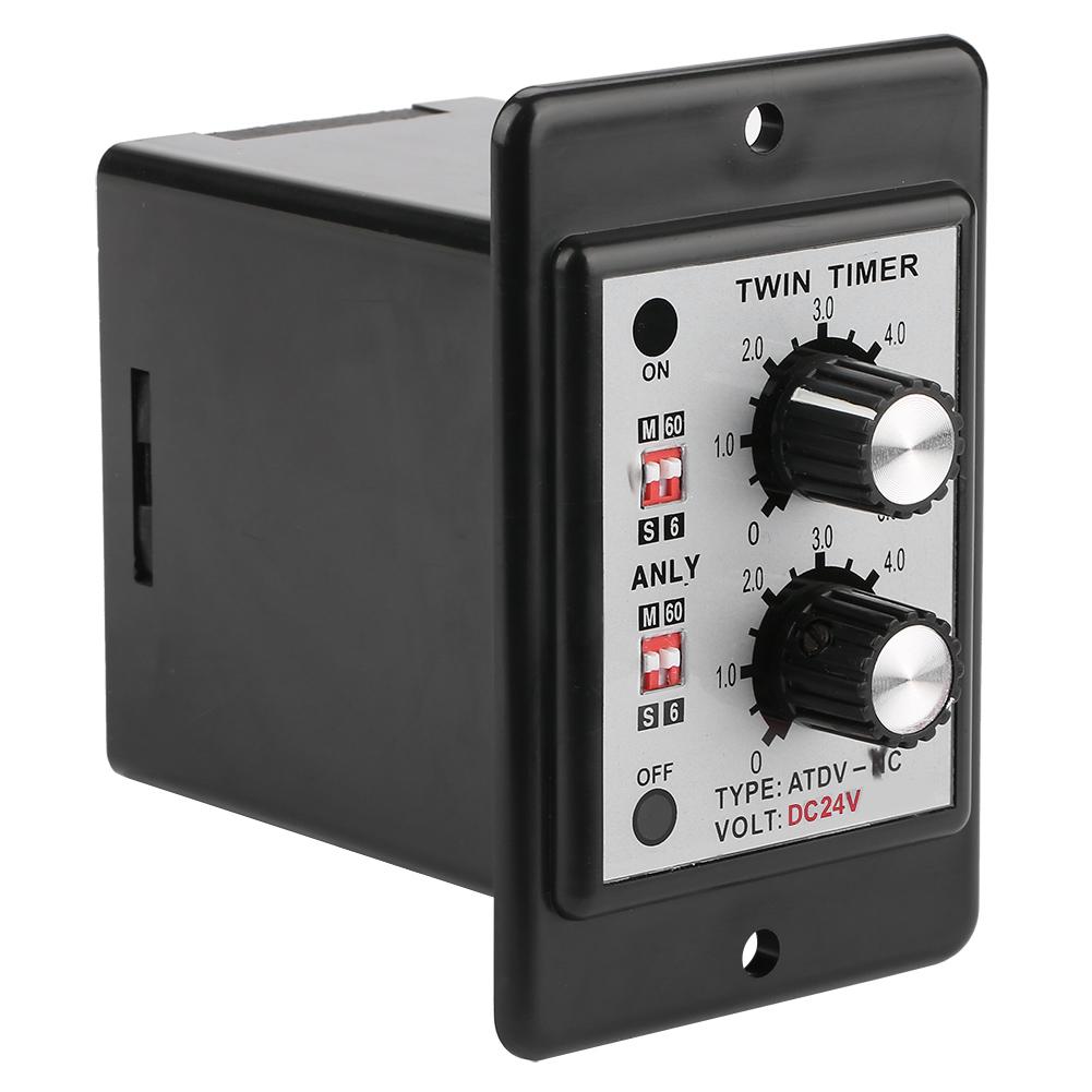 On-Off-Twin-Timer-Relay-Knob-Control-Time-Switch-AC-110-220V-DC-12V-DC-14V thumbnail 21