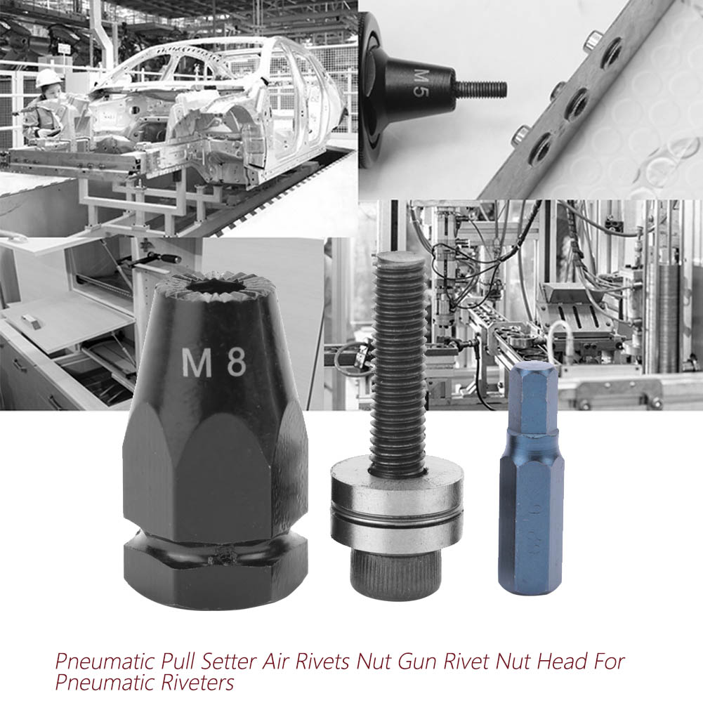 Pneumatic-Setter-Air-Rivet-Nut-Gun-Head-Hex-straight-clamp-shank-High-Quality thumbnail 18