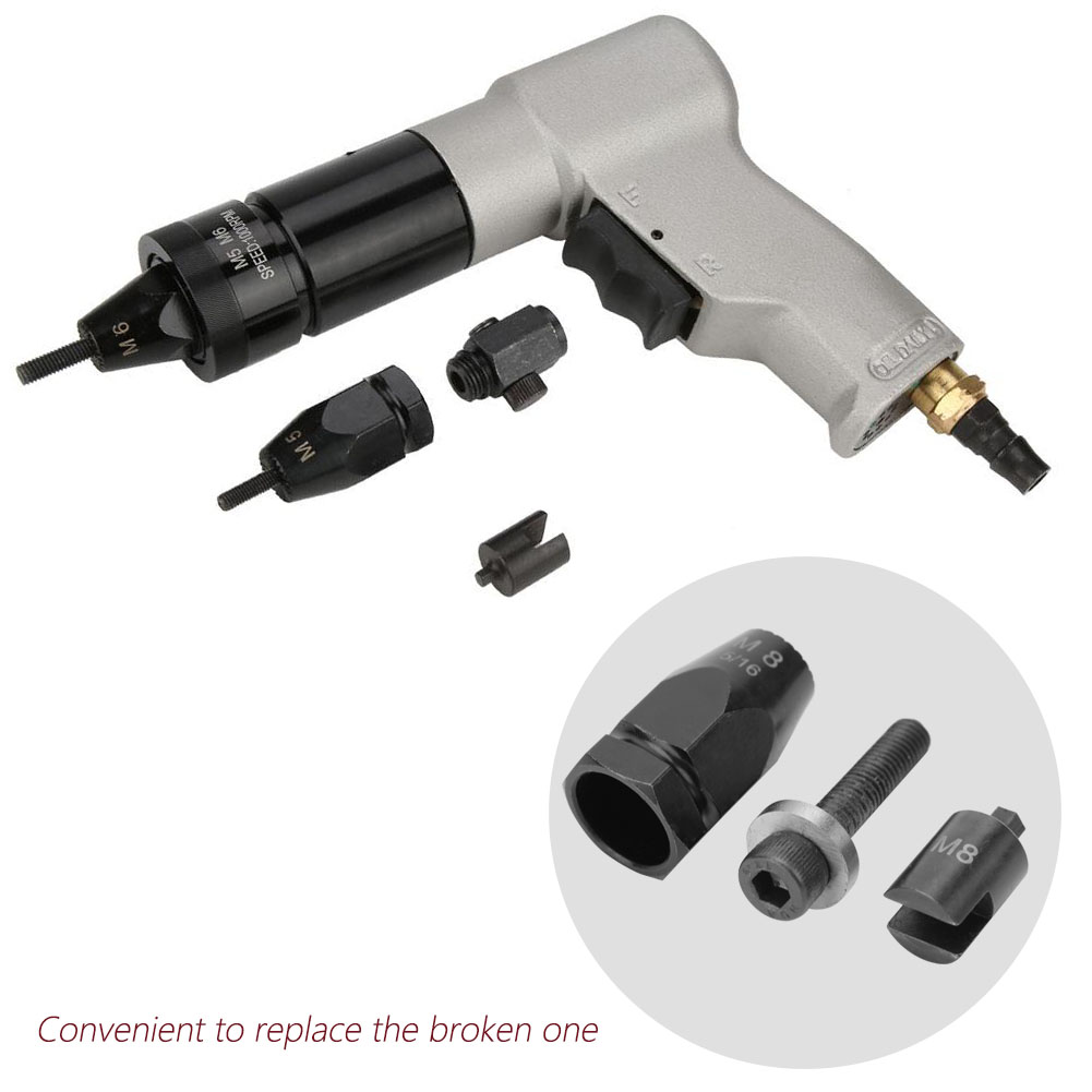 Pneumatic-Setter-Air-Rivet-Nut-Gun-Head-Hex-straight-clamp-shank-High-Quality thumbnail 31