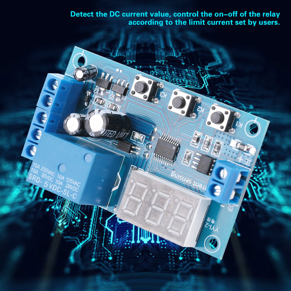 5-12-24V-0-10A-DC-Current-Detection-Relay-Module-Overcurrent-Protection-YYI-2 thumbnail 15