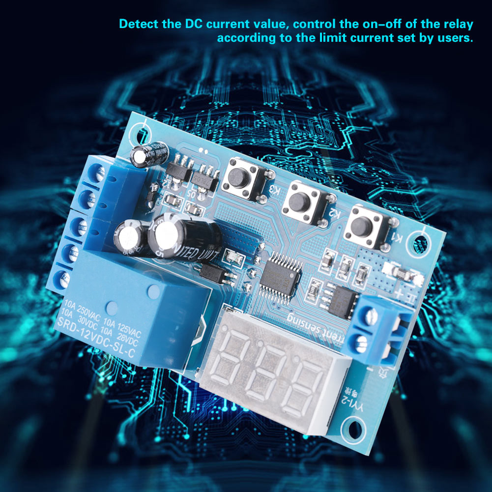 5-12-24V-0-10A-DC-Current-Detection-Relay-Module-Overcurrent-Protection-YYI-2 thumbnail 18