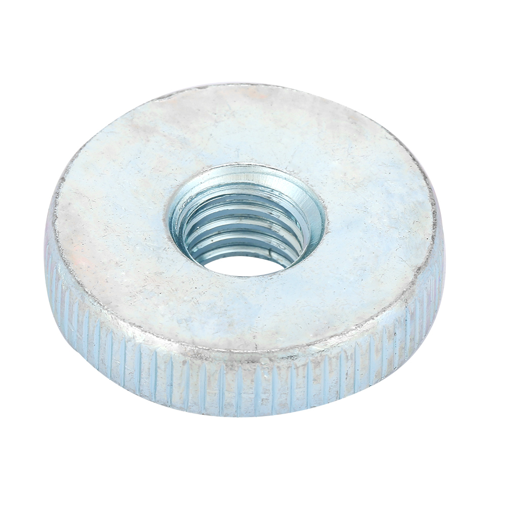 Low Type Knurled Nuts DIN 467 Zinc Plated Steel 10 pcs M10-1.5 Metric
