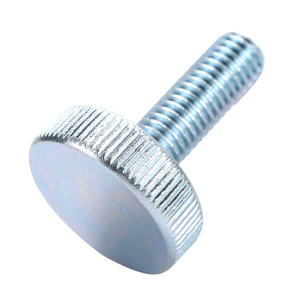 40 PCS M4 x 10mm Knurled Hand Screw Zinc Plated Carbon Steel Thumb Screws Flat Knurled Head Bolts Screws for Electric Appliance Tools