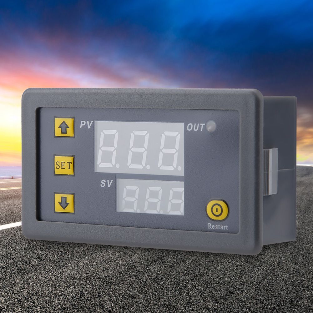 DC-12V-24V-220V-LED-Digital-Thermostat-Temperature-Alarm-Controller-Sensor-Meter miniature 11