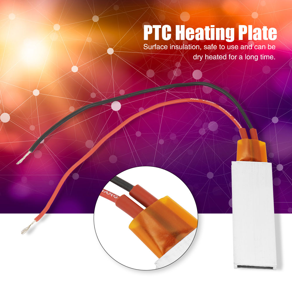12V-3-tipo-de-temperatura-carcasa-de-aluminio-placa-de-calefaccion-PTC-Calentador-termostatica miniatura 17