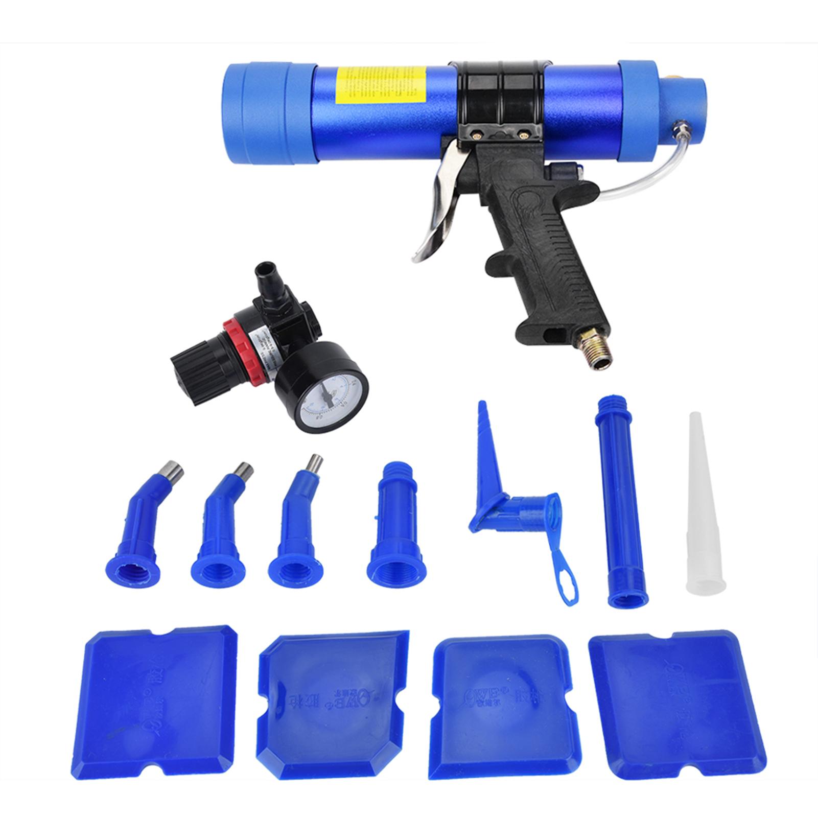Pistolet-a-Colle-de-Verre-Pistolet-a-Calfeutrer-Pneumatique-Reglable-Colle-Dure miniatuur 9