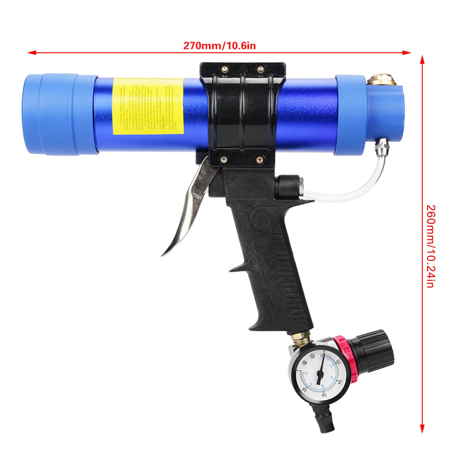 Pistolet-a-Colle-de-Verre-Pistolet-a-Calfeutrer-Pneumatique-Reglable-Colle-Dure miniatuur 8