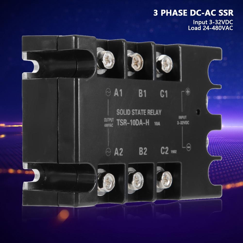 74e-1e-b3-1ca X-DREE 3.5-32VDC Input 480VAC haute performance 60A Output Relais essentiel statique SSR triphas/é bien fait DC//AC