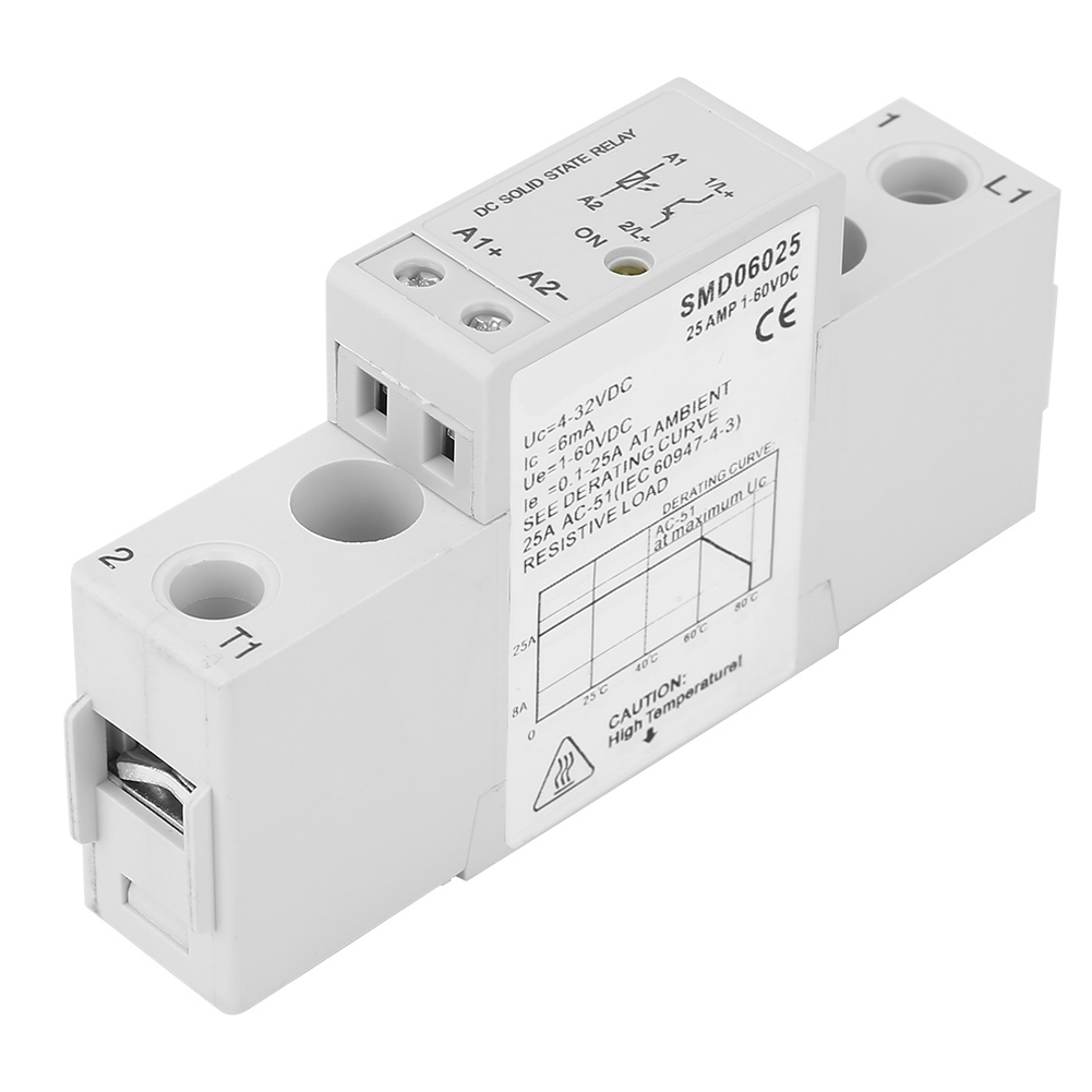 1x-Single-Phase-Din-Rail-Slim-Solid-State-Relay-SSR-Heat-Sink-Controller-Relay thumbnail 13