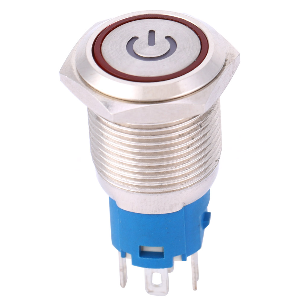 Smart Switch 240V 16mm IP67 Steel LED Illuminated ON//OFF POWER Button Switch