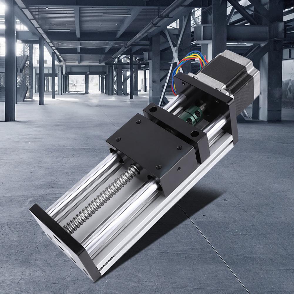 Effective Stroke 200mm 1610 Screw Double Shaft Linear Rail Slide Ball Screw Slide Stroke 200mm with 57 Motor for Linear