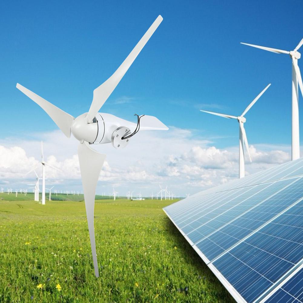 100W Wind Turbine Generator DC 12V 24V Nylon Fiber Wind 3 Blades Power Windmill 3