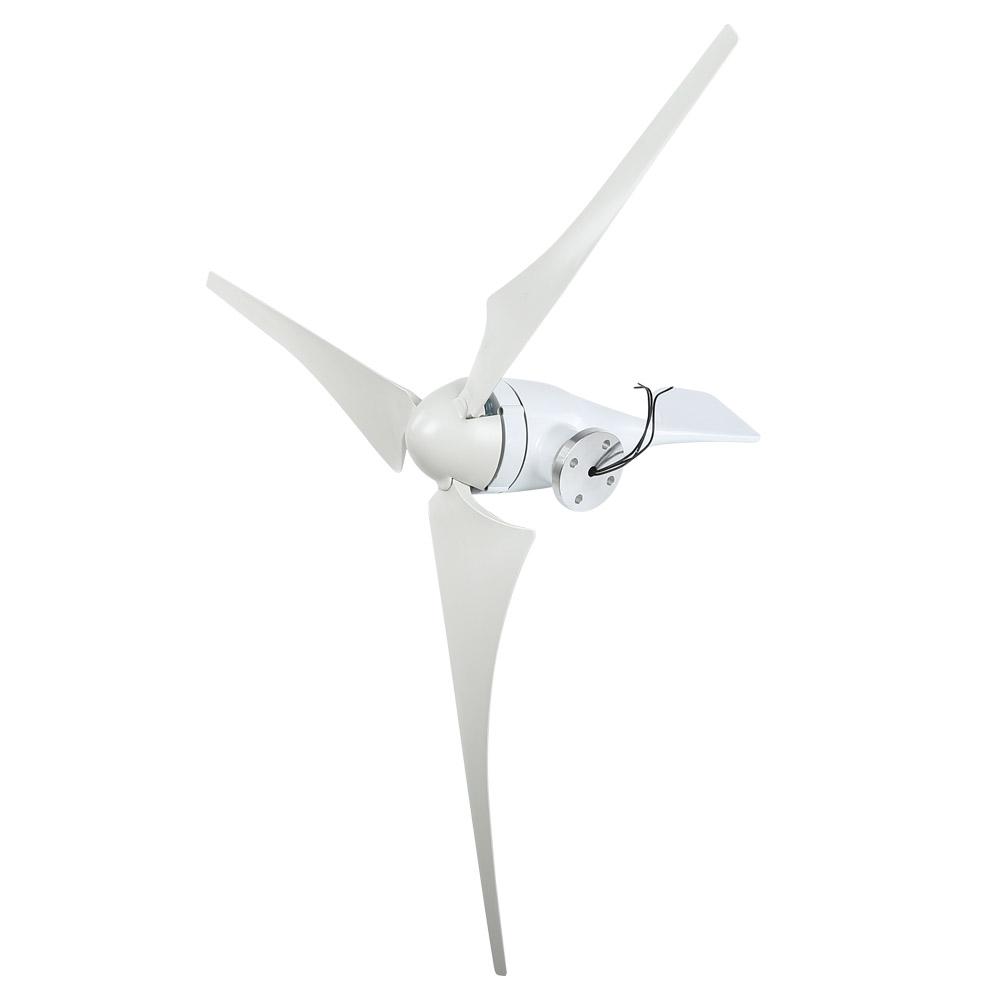 100W Wind Turbine Generator DC 12V 24V Nylon Fiber Wind 3 Blades Power Windmill 6