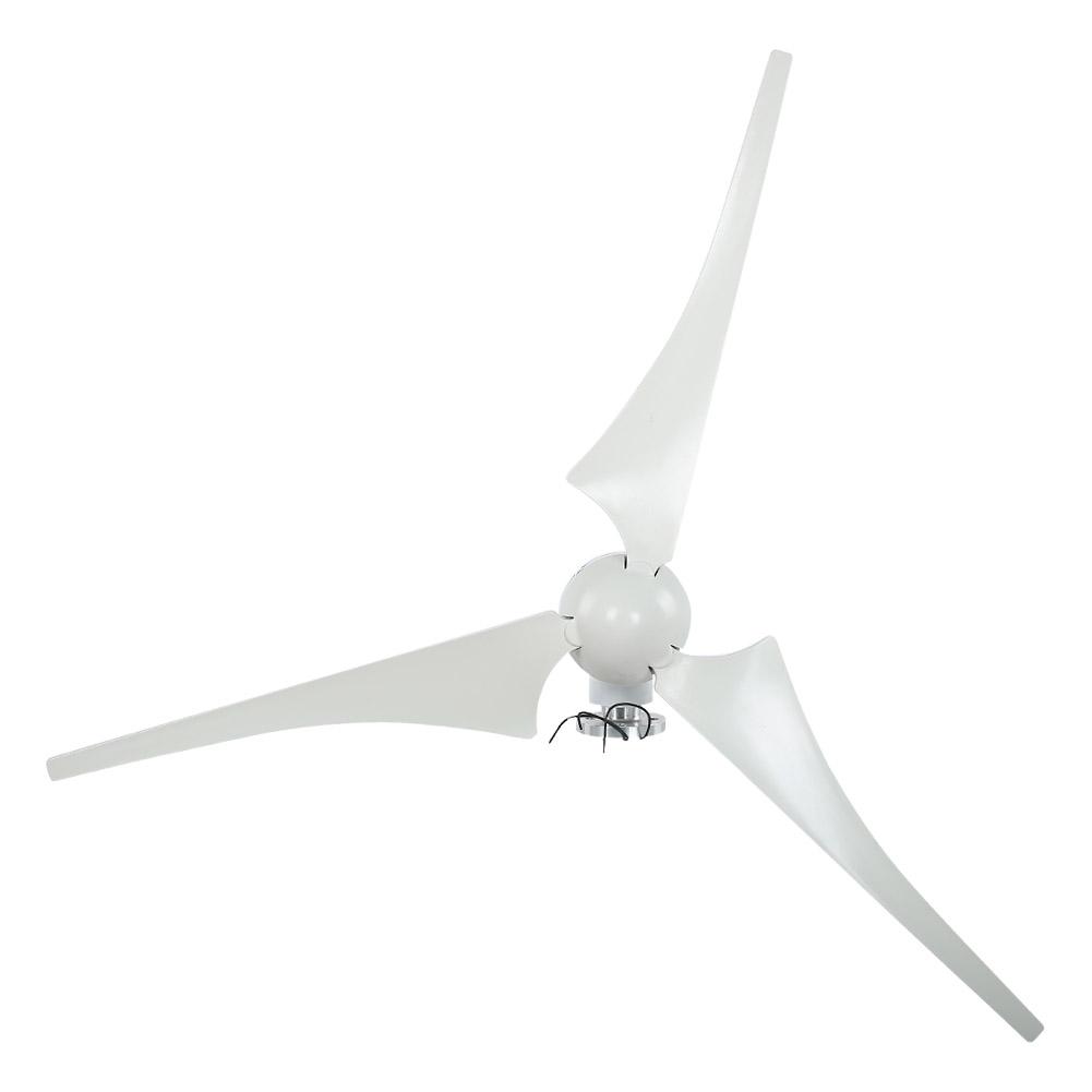 100W Wind Turbine Generator DC 12V 24V Nylon Fiber Wind 3 Blades Power Windmill 7
