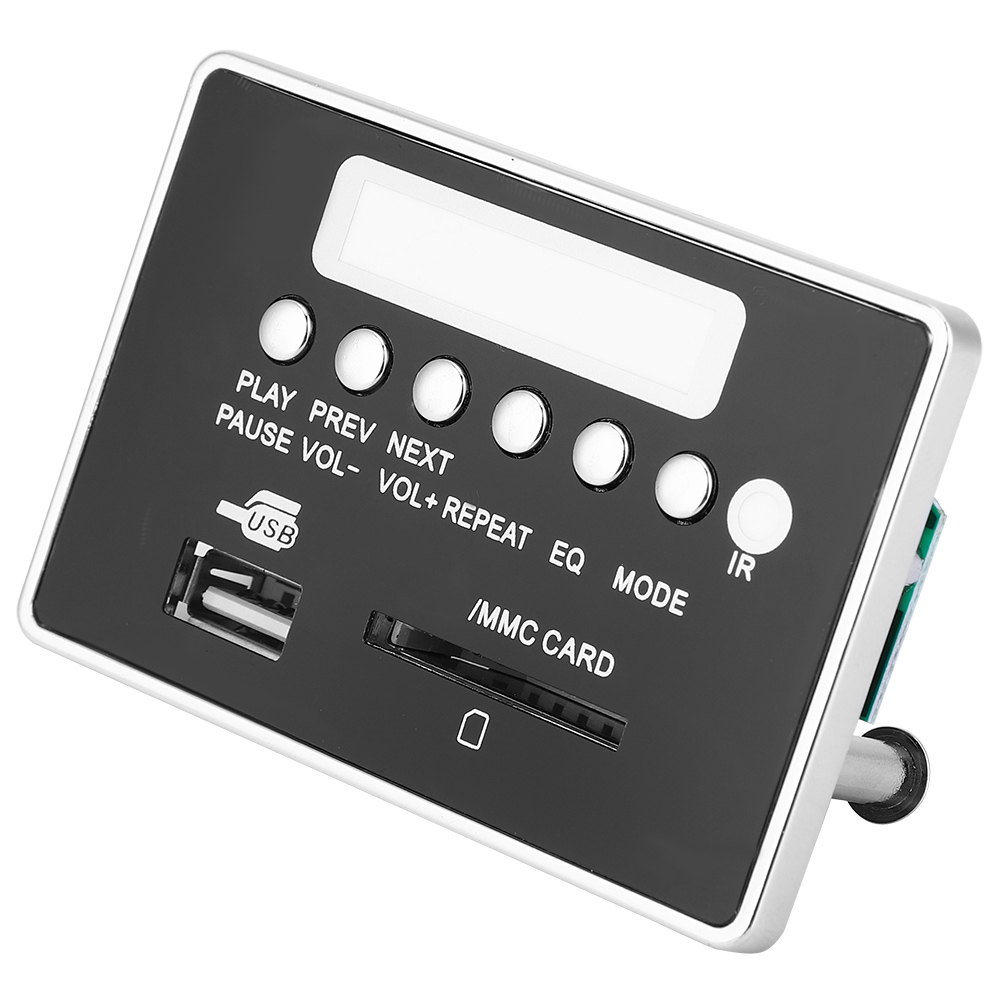 Voiture-Bluetooth-MP3-WMA-Decodeur-Board-12V-5V-Audio-Sans-Fil-Module-de-controle-a-distance miniature 17