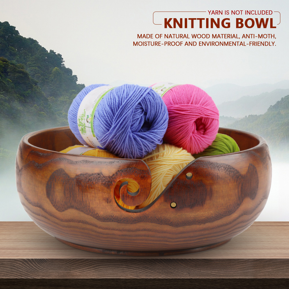 Multi-functional-Handcrafted-Classic-Wooden-Knitting-Yarn-Bowl-Ashtray-2-Sizes thumbnail 13
