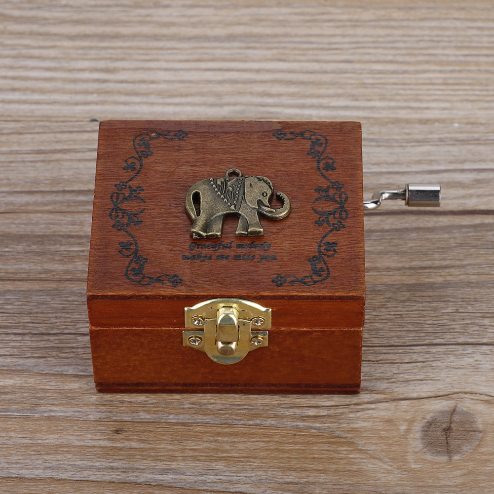 A Time for Us from Romeo e Giulietta Music Box Colore: Marrone + Oro TZSYYH Music Box Antico 18 Nota della manovella di Legno Musical Box con doratura in Movimento Y5Y0H9 Brown Music Box Regalo
