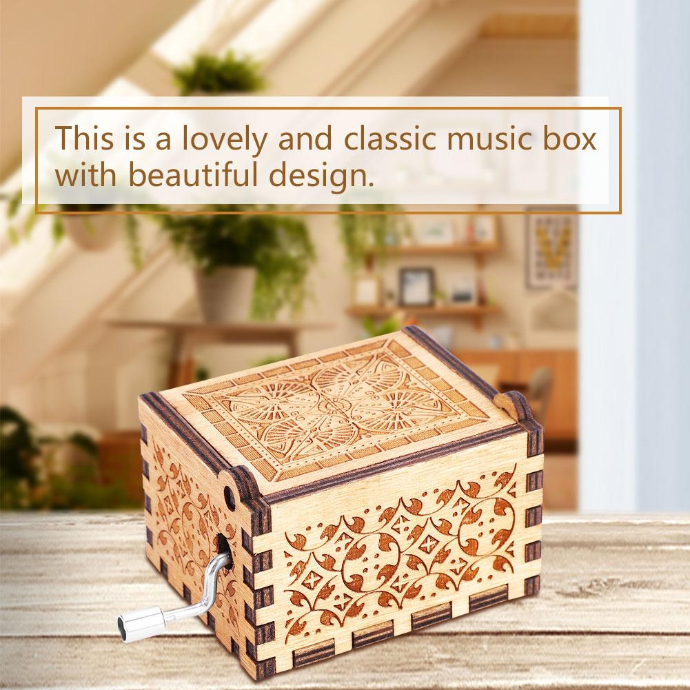 bo te musique m canisme m canique music box manivelle en. Black Bedroom Furniture Sets. Home Design Ideas
