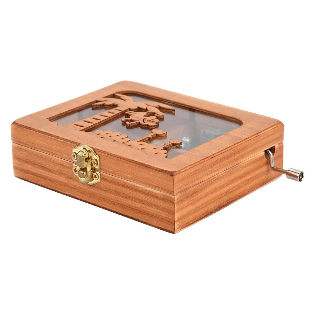 Mechanical Hand Crank Music Box Wooden Hand Engraved Music Box Toys Craft Gift | eBay