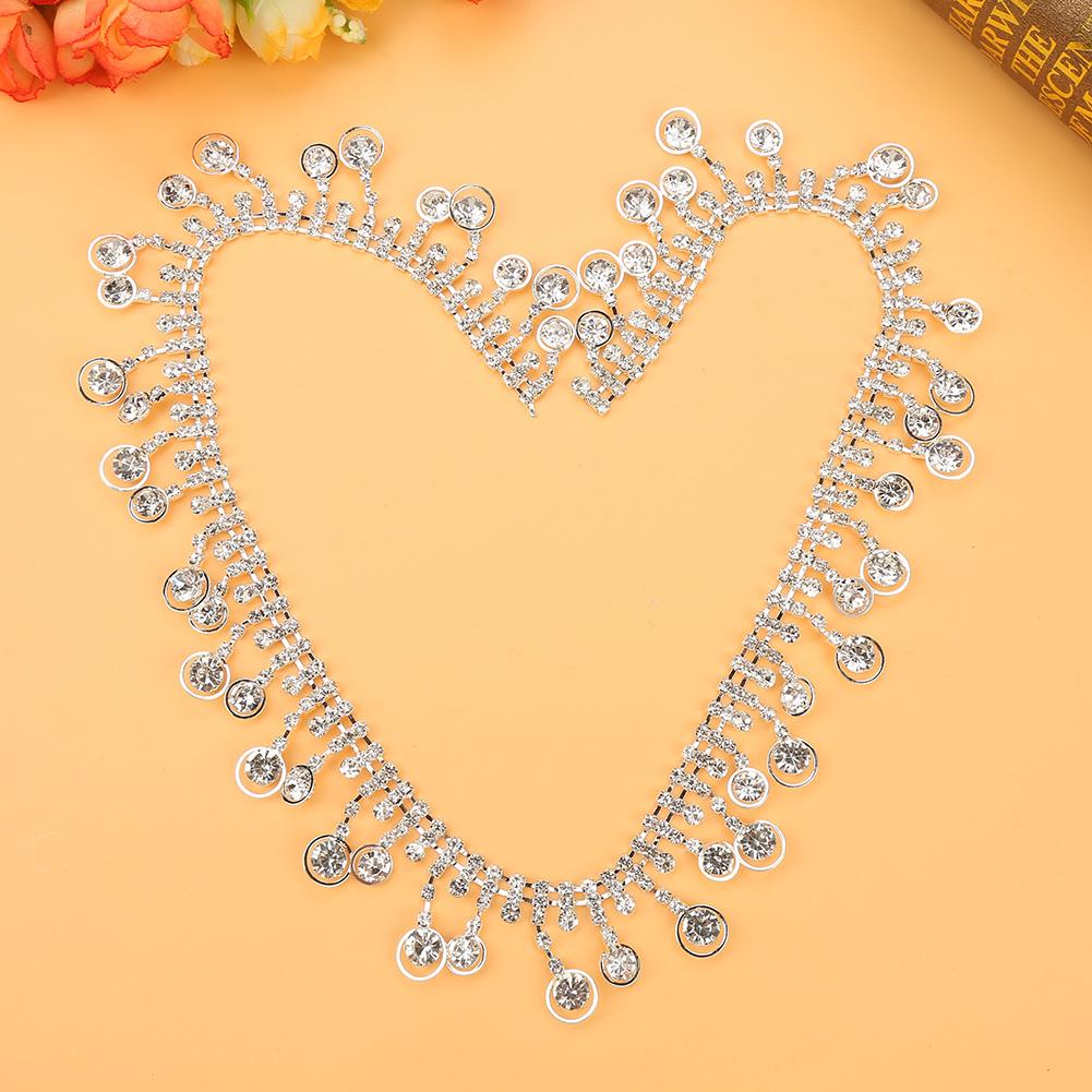 1-Yard-Sparkling-Rhinestone-Trim-Crystal-Chain-for-DIY-Wedding-Party-Dress-Decor thumbnail 13