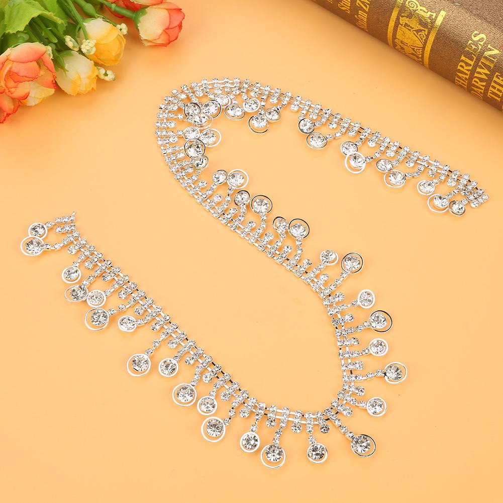 1-Yard-Sparkling-Rhinestone-Trim-Crystal-Chain-for-DIY-Wedding-Party-Dress-Decor thumbnail 14