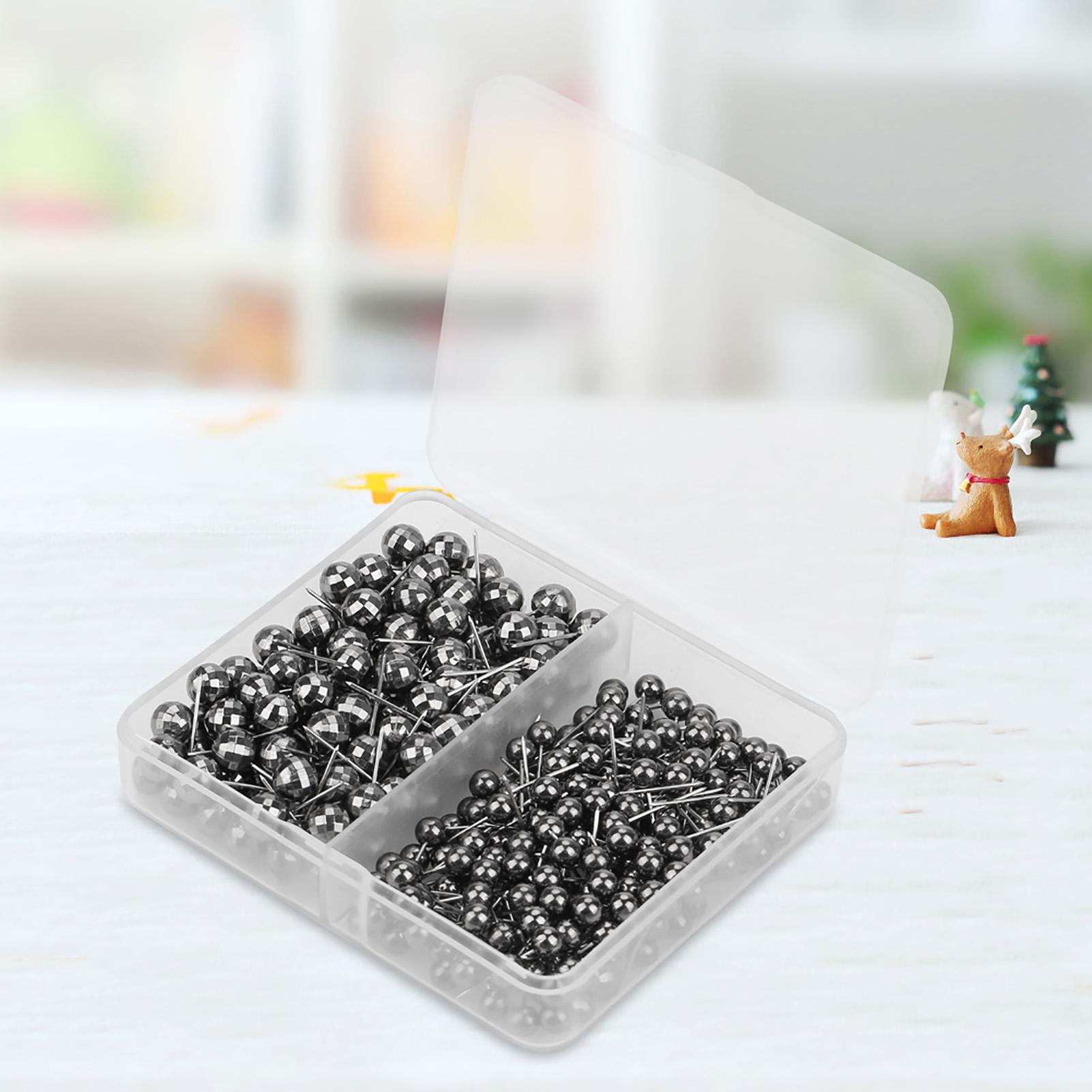 300x-multicolore-couture-a-coudre-tete-ronde-perle-Straight-PINS-outil-pratique miniature 20