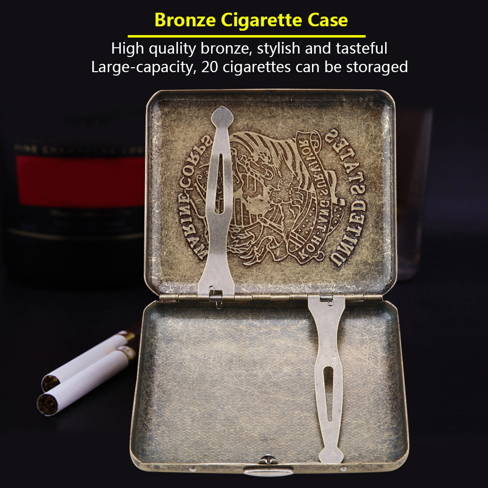 Retro-Cigarette-Box-Case-Double-Sided-Pocket-Holder-for-20-Cigarettes-Gift thumbnail 18