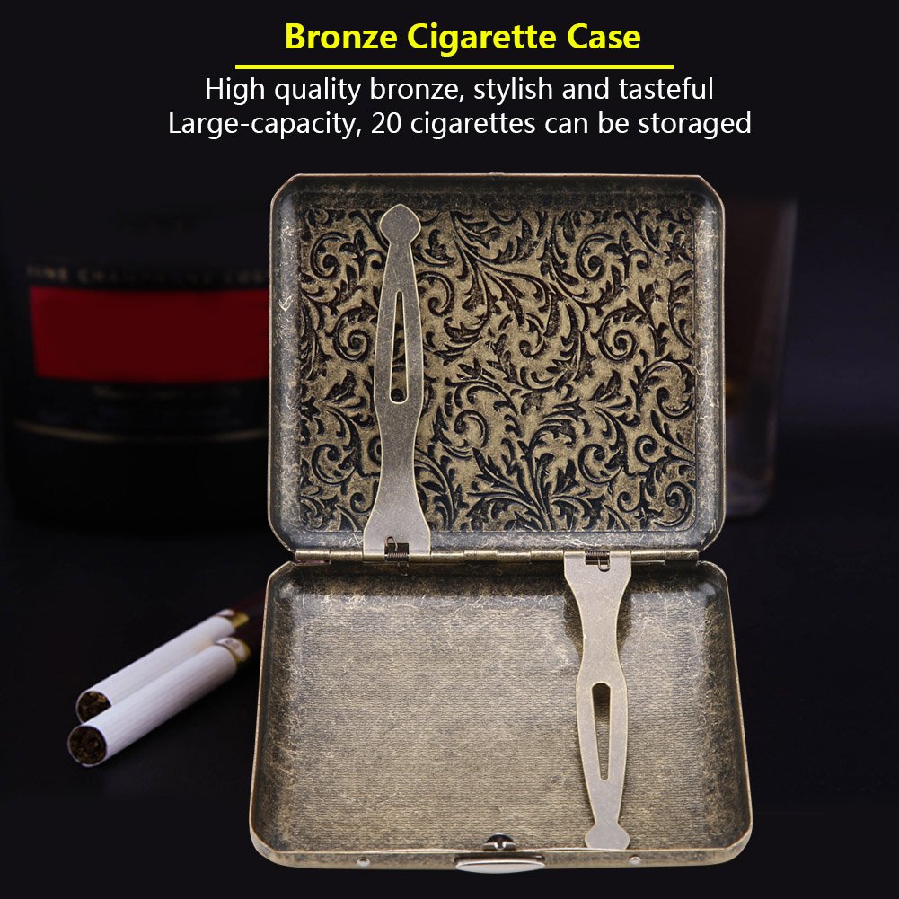 Retro-Cigarette-Box-Case-Double-Sided-Pocket-Holder-for-20-Cigarettes-Gift thumbnail 21