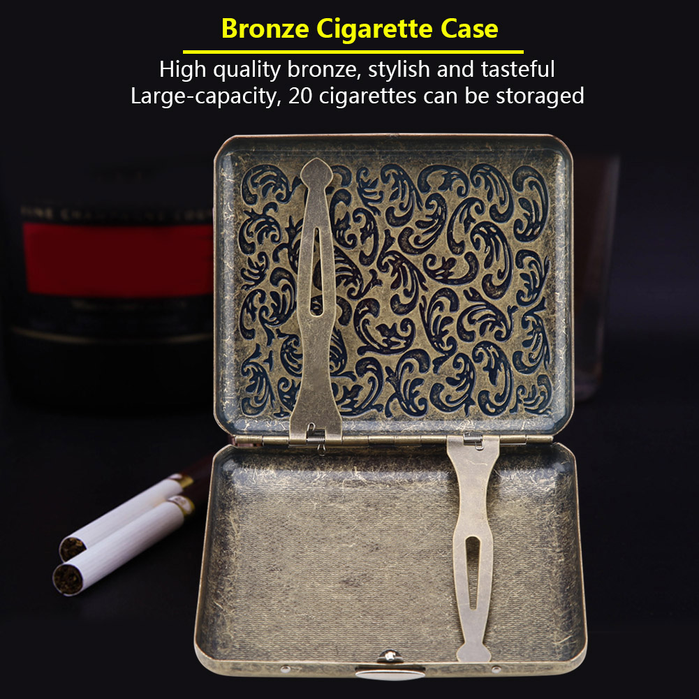 Retro-Cigarette-Box-Case-Double-Sided-Pocket-Holder-for-20-Cigarettes-Gift thumbnail 27