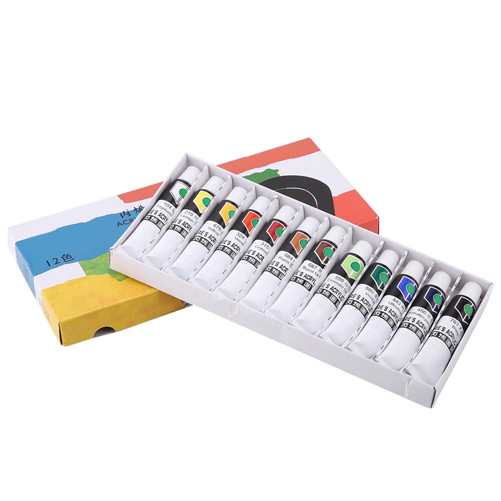 12-18-24-Colors-Acrylic-Paint-Set-12ml-Tubes-Artist-Art-Drawing-Painting-Pigment thumbnail 14