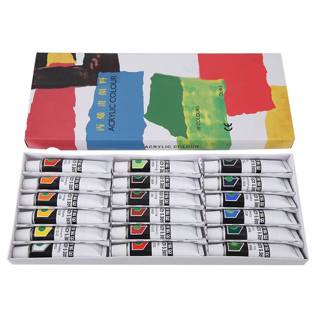 12-18-24-Colors-Acrylic-Paint-Set-12ml-Tubes-Artist-Art-Drawing-Painting-Pigment thumbnail 17