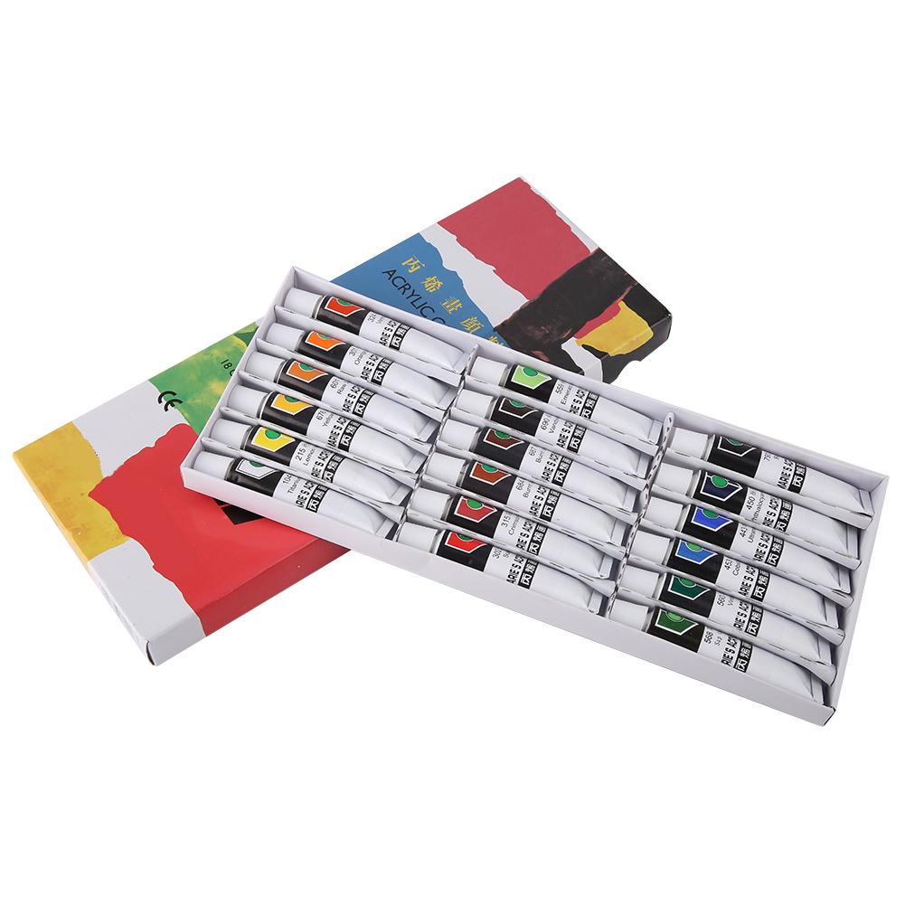 12-18-24-Colors-Acrylic-Paint-Set-12ml-Tubes-Artist-Art-Drawing-Painting-Pigment thumbnail 18