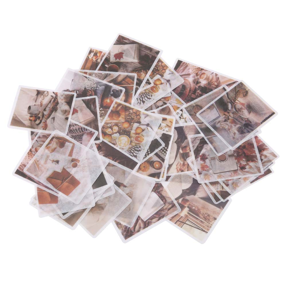 60Pcs-set-DIY-Paper-Stickers-Label-Scrapbooking-Stickers-Journal-Diary-Stickers thumbnail 12